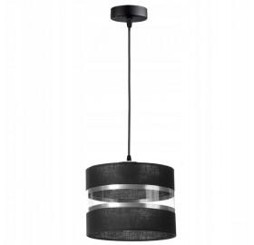 Lampa wisząca abażur E27 Czarna