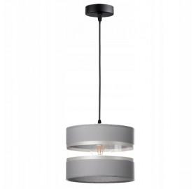 Lampa wisząca abażur E27 Szara