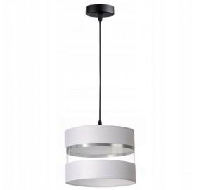 Lampa wisząca abażur E27 Biała