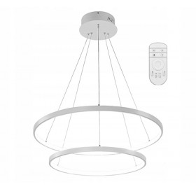Lampa wisząca Ring żyrandol LED 63W + pilot
