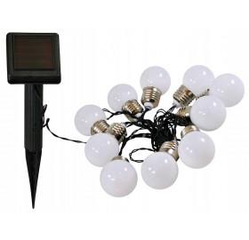 Girlanda solarna LED kulki 10 szt.