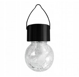 Lampa solarna LED Kula wisząca LED RGB szklana