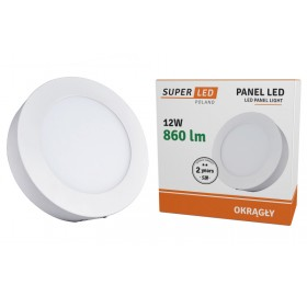 Panel natynkowy LED 12W biały zimny