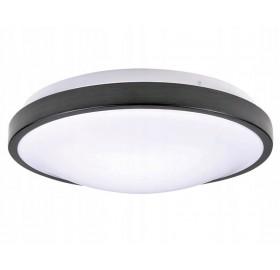 Oprawa Lampa Plafon ścienna sufitowa FORZA 2x E27 LED czarna