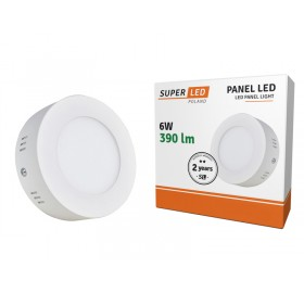 Panel natynkowy LED 6W okrągły biały zimny