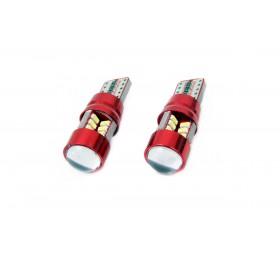LED CANBUS 27SMD 3014 T10e (W5W) ALU White 12V/24V