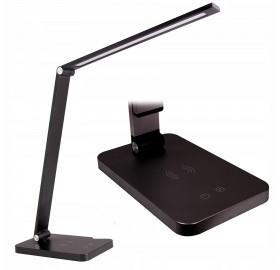 Lampka biurkowa LED 3 barwy ładowarka INDUKCJA QI
