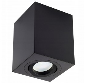 Oprawa natynkowa GU10 kwadratowa czarna