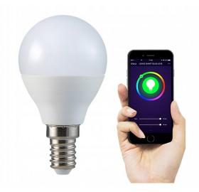 Żarówka LED E14 SMART 5,5W WW-CW+RGB Wi-Fi TUYA