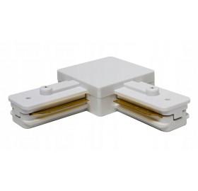 Łącznik kątowy do szyn oświetleniowych LINEA biały