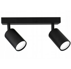 Lampa sufitowa halogenowa GU10 SPOTI 2 czarna