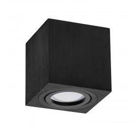 Oprawa natynkowa GU10 OH kwadratowa czarna