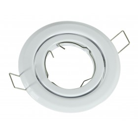 Oprawa wpuszczana GU10 okrągła biała