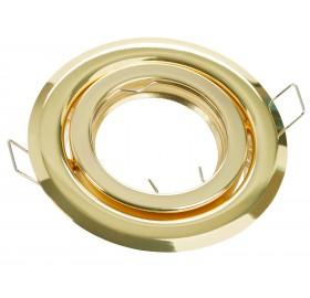 Oprawa wpuszczana GU10 okrągła złota