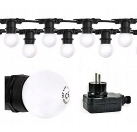 Girlanda ogrodowa LED 6,5 m + 10x żarówka LED E27