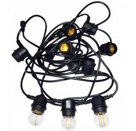 Girlanda ogrodowa łańcuch świetlny 10m 10xE27 LED