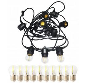 Girlanda ogrodowa LED 10 m + 10x żarówka LED E27