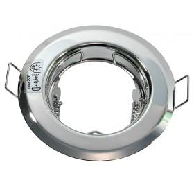Oprawa wpuszczana GU10 okrągła chrom