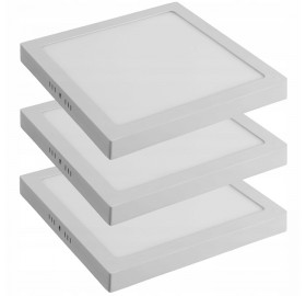 3x Panel natynkowy LED 24W CCD biały ciepły