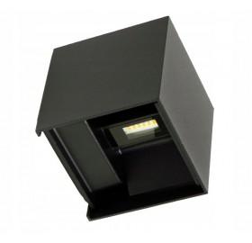 Lampa elewacyjna LED kinkiet RIKO ogrodowy dwustronny czarny