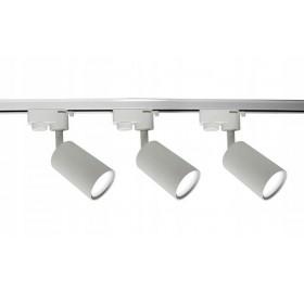 Zestaw Szynoprzewód Szyna 1m + 3x Lampa GU10 LED biała