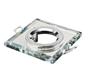 Oprawa wpuszczana GU10 kwadratowa krystaliczna