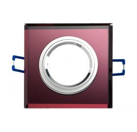 Oprawa wpuszczana GU10 kwadratowa fioletowa