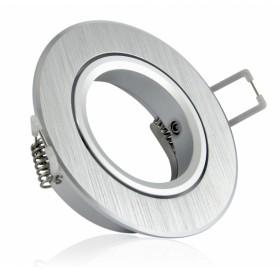 Oprawa wpuszczana GU10 okrągła srebrna