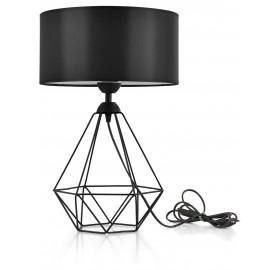 Lampka nocna Loft E27 czarna