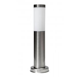 Lampa Ogrodowa stojąca zewnętrzna słupek okrągły 45cm E27 chrom (INOX)