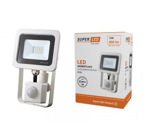 Naświetlacz LED 10W z czujnikiem ruchu biały ciepły