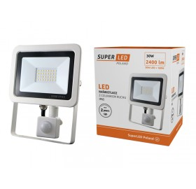 Naświetlacz LED 30W z czujnikiem ruchu biały zimny