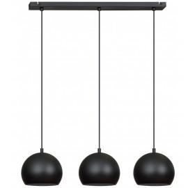 Lampa wisząca Ball Black 3x E27