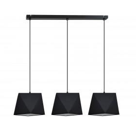 Lampa wisząca Diamond Black 3x E27