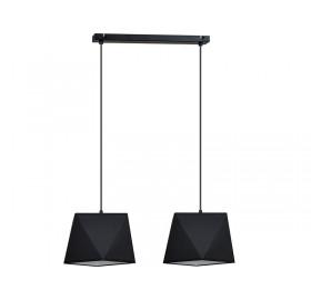Lampa wisząca Diamond Black 2x E27