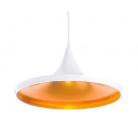 Lampa wisząca Loft Gold E27 biała