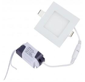 Panel wpuszczany LED 3W biały ciepły
