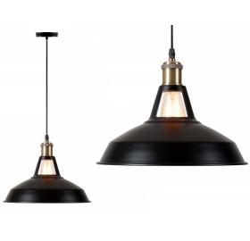 Lampa wisząca Retro Edison Loft E27 czarna