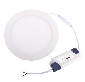 Panel wpuszczany LED 24W okrągły biały ciepły