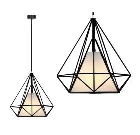 Lampa wisząca Diament Loft E27 czarna