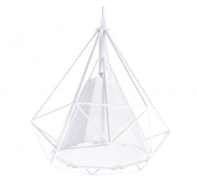Lampa wisząca Diament Loft E27 biała