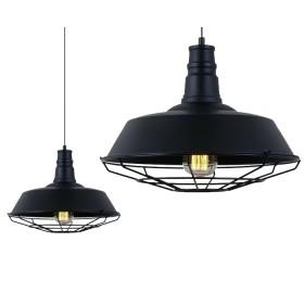 Lampa wisząca Industrial Loft E27 czarna
