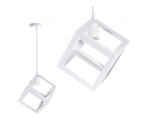 Lampa wisząca Industrial Loft E27 biała