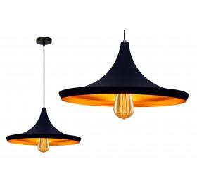 Lampa wisząca Loft Gold E27 czarna