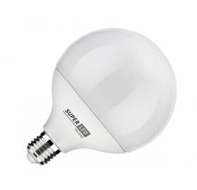 Żarówka LED E27 15W kula biała zimna