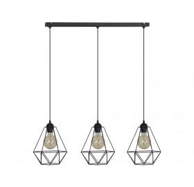 Lampa wisząca Loft retro 3x E27 LED edison