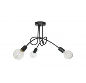 Lampa wisząca Edison Loft czarna