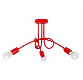 Lampa wisząca Edison Loft czerwona