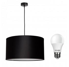 Lampa wisząca z abażurem + żarówka LED E27 12W