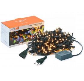 Lampki choinkowe 200 LED IP44 + wtyczka biały zimny